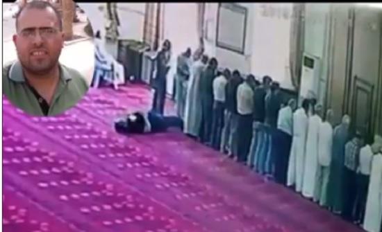 بالفيديو : وفاة شاب اثناء الصلاة في عمان