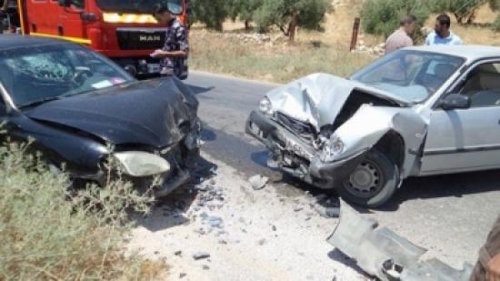 المفرق : 16 إصابة بحادث تصادم على طريق الخالدية