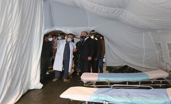 وزير الخارجية يتفقد المستشفى الميداني الأردني في لبنان