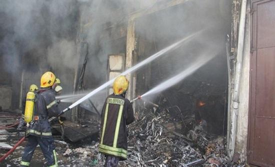 """وفاة سيدة """"تفحما"""" وإصابة ابنها ورجل دفاع مدني بحريق في مادبا"""