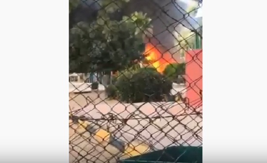 فيديو : حريق كوخ أطفال في حديقة تونس بإربد