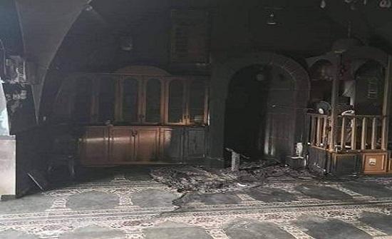 متطرفون يهود يحرقون مسجدا في بيت صفافا جنوب القدس