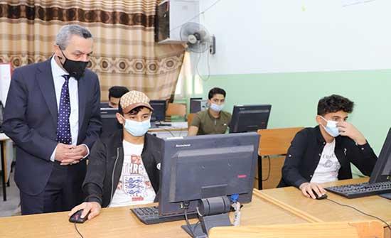 وزير التربية يتفقد جاهزية عدد من المدارس في لواء بني كنانة