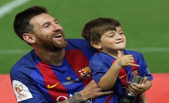 شاهد كيف يلعب ابن ميسي كرة القدم .. على خطى والده
