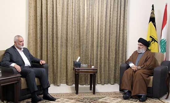 """هنية ونصر الله يؤكدان عمق العلاقة القائمة بين """"حزب الله"""" و""""حماس"""" .. بالفيديو"""