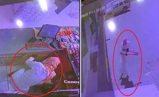 شاهد: لص ملثم يحطم واجهة محل في السعودية وكاميرا توثق تفاصيل السرقة