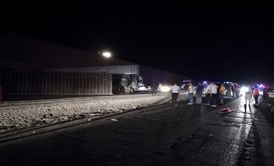 وفاة شخص وإصابة اخر اثر حادث تصادم في جرف الدراويش