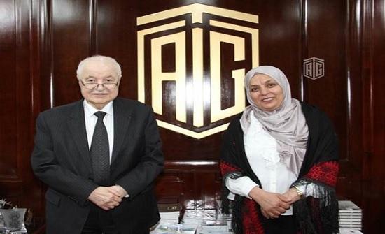 أبوغزاله يستقبل أمين سر جمعية أصدقاء مرضى الثلاسيميا الفلسطينية