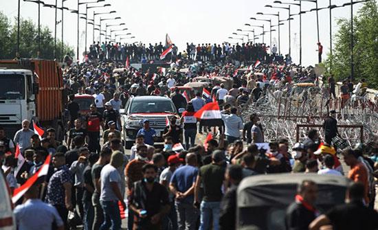 تجدد المظاهرات جنوبي العراق.. وموانئ النفط في الواجهة
