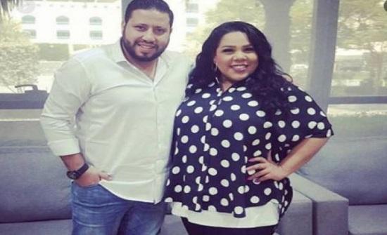 شيماء سيف وزوجها يتعرضان لحادث سير