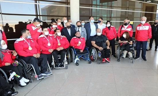 الأميران رعد بن زيد ومرعد بن رعد يستقبلان أبطال البعثة البارالمبية الأردنية