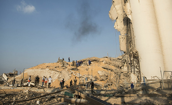 الجيش اللبناني يعلن انتشال 5 جثث من تحت الانقاض