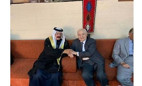 طلال أبوغزاله في ضيافة عشيرة المجالي في الكرك