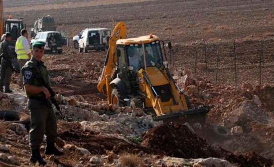 الاحتلال يجرف أراضي شمال سلفيت لصالح توسيع المستوطنات