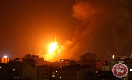 بالفيديو : طائرات الاحتلال تقصف قطاع غزة
