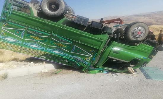 وفاة طفلين واصابة 7 اشخاص اثر حادث تدهور في منطقة ناعور