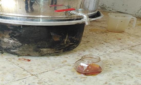 مأدبا : ضبط 320 كيلو عسل مغشوش و200 كيلو مواد أوليه تالفة