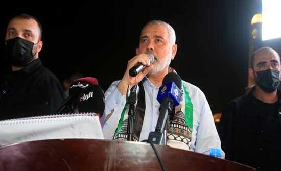 هنية يرحب برئيس المخابرات المصرية ويشيد بدور القاهرة في دعم قطاع غزة
