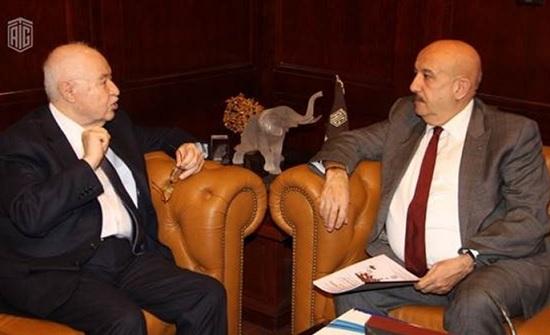 أبوغزاله يستقبل الأمين العام لقمة البوسفور