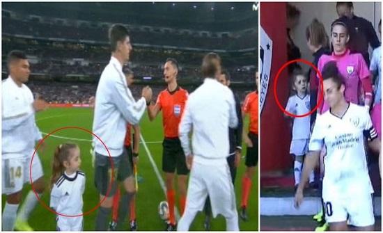 ريال مدريد يحقق حلم طفلة بكت بسبب برشلونة (فيديو)