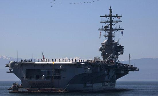 """سفن صينية تحاصر حاملة الطائرات الأمريكية """"رونالد ريغان"""" في بحر الصين الجنوبي"""