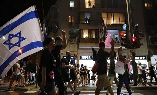 الشرطة الإسرائيلية تقمع متظاهرين ضد نتنياهو