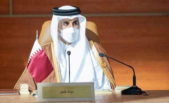 أمير قطر: ندعو قادة دول العالم إلى مزيد من التعاون من أجل التوزيع العادل للقاح