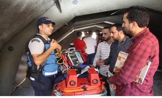 """الدفاع المدني يُنظم مبادرة """"صحتك بتهمنا"""" في محافظة معان"""