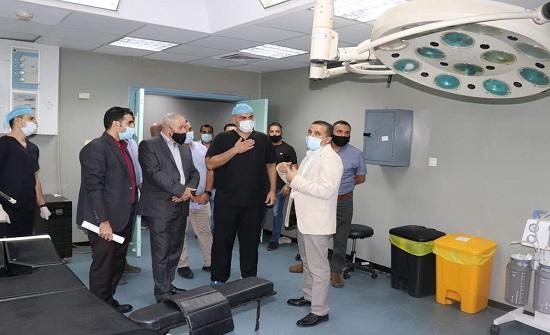 وفد من القيادة العامة يزور المستشفى الميداني في قطاع غزة