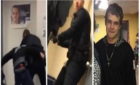 بالفيديو.. شرطي يطلق رصاصة في وجه شاب داخل محكمة بحضور والدته!