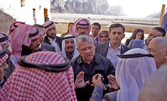 الملك يزور مركز زوار وادي رم ويطلع على المخطط الشمولي للمنطقة
