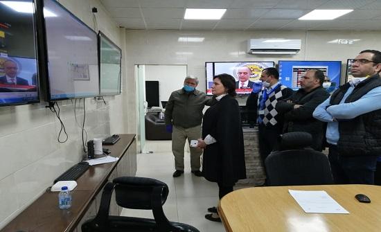 زواتي تتفقد سير العمل بخطة الطوارئ في غرفة عمليات الطاقة والمعادن