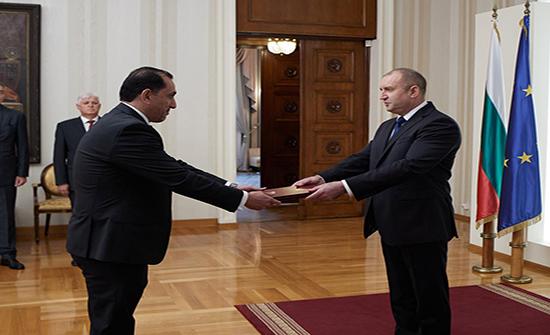 السفير القضاة يقدم أوراق اعتماده لرئيس جمهورية بلغاريا