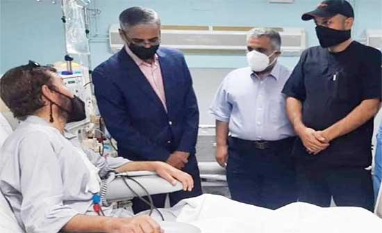 محافظ المفرق يتفقد وحدة غسيل الكلى في مستشفى المفرق الحكومي