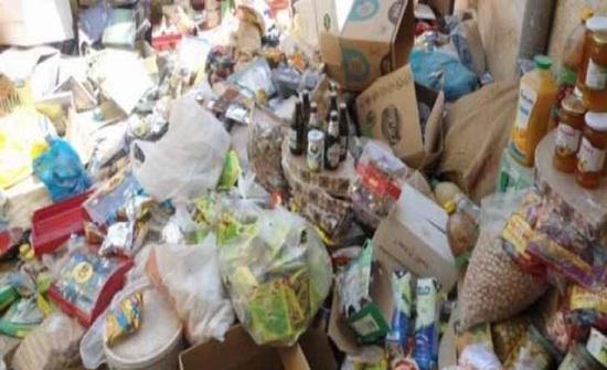إتلاف مواد غذائية غير صالحة للاستهلاك في جرش