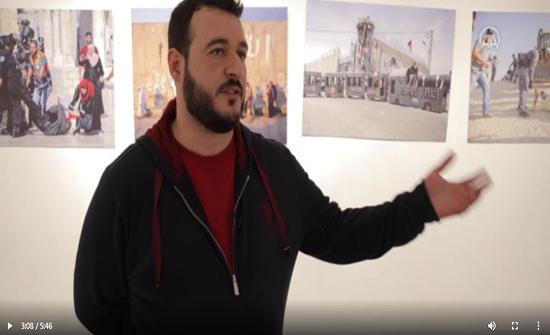 """فيديو: في معرض """"إنسان خلف الحدود"""" بإسطنبول.. فلسطيني يوثق بالصور معاناة غزة"""