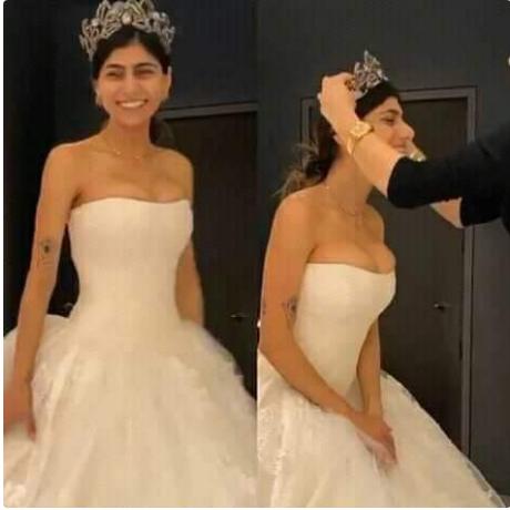 أول صور من حفل زفاف «ميا خليفة» بطلة الأفلام الإباحية المعتزلة