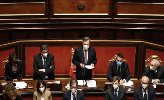 مجلس الشيوخ الإيطالي يمنح الثقة لحكومة ماريو دراغي