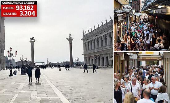 شاهد: كورونا يحول مدينة البندقية إلى مدينة أشباح خالية من السياح