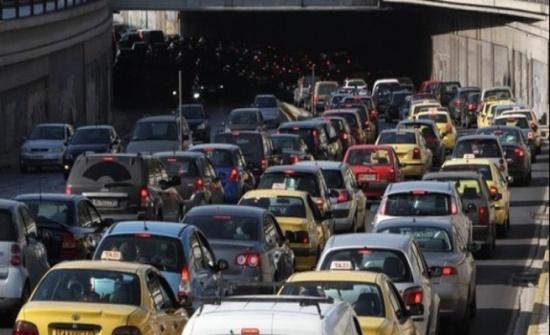 أزمة سير خانقة في عمان