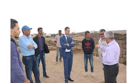 القنصل الفرنسي يزور حفرية اثرية مشتركة مع جامعة اليرموك في أم السرب