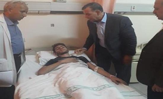 وزير الصحة يتفقد مصابي حادث سير مثلث عرنوس