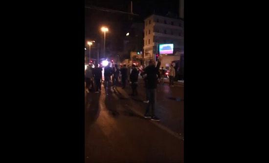 بالفيديو : متظاهرون يحاولون قطع جسر الرينغ وسط بيروت احتجاجا على تشكيل حكومة تكنوسياسية