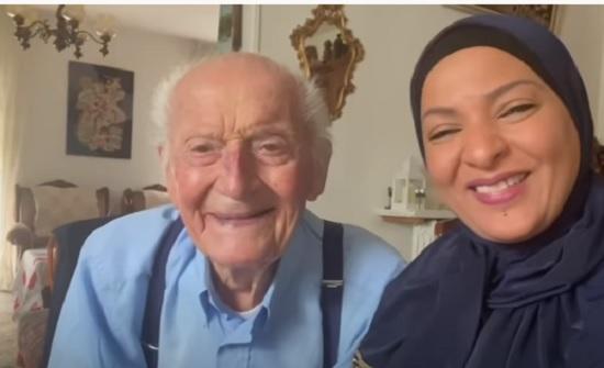 فيديو :  اعتناق مسن فرنسى الإسلام بعد الحاد دام 95 سنه