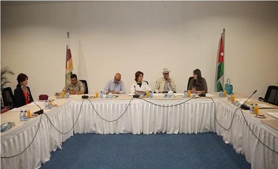 الأميرة وجدان الهاشمي تترأس إجتماع لجنة تقييم وإختيار أعمال مشروع نهاية الممر التاريخي