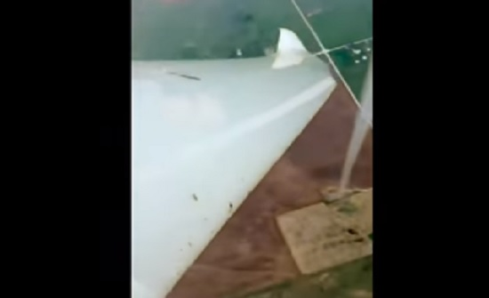 طيار أمريكي يقترب من إعصار قوي ويصوره- (شاهد)