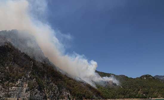 ظهور كتلة ضخمة من الدخان في سماء المملكة اثر حرائق في تركيا