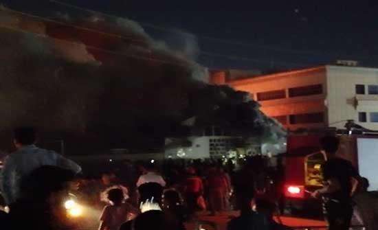 ارتفاع ضحايا حريق مستشفى كورونا بالعراق لـ45 قتيلا .. بالفيديو