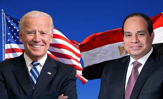 بايدن يبحث مع السيسي تطورات القضية الفلسطينية و الأمن المائي لمصر