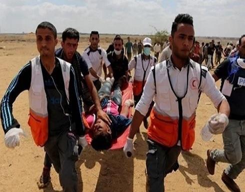 69 إصابة إثر اعتداء الاحتلال على مسيرات العودة في غزة